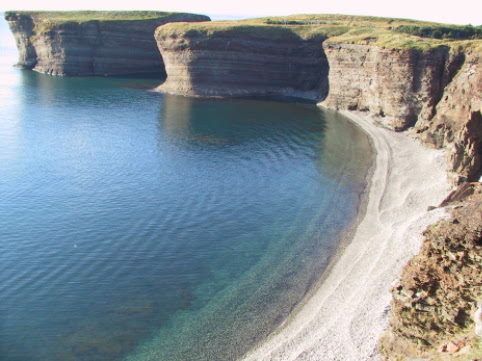 One of many beautiful beaches around Bell Island