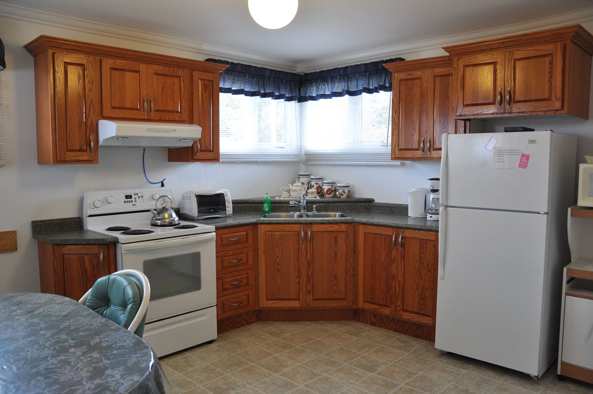 We have all the conveniences of home, including a coffeemaker and microwave.