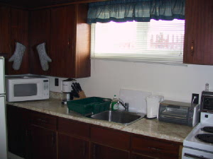 Here is the kitchen with everything you will need